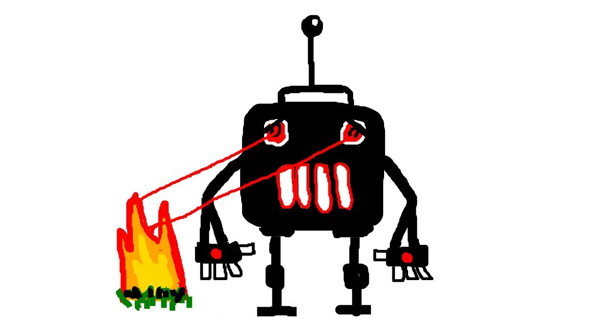 Drawing of Robot by Powersave Airlines