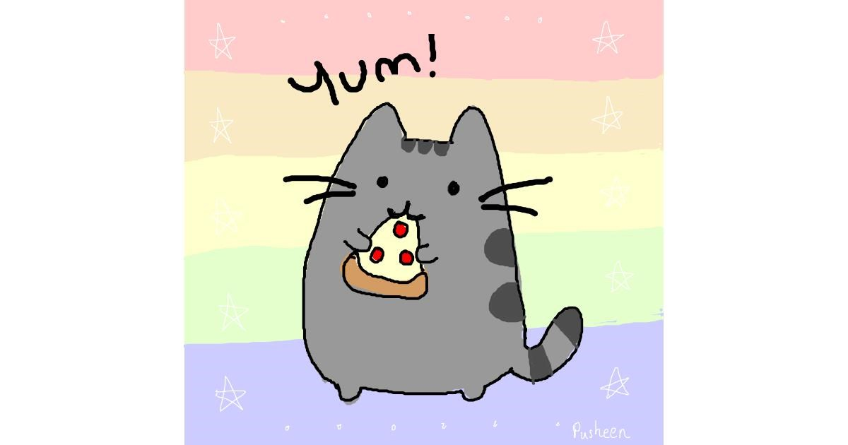 Pizza drawing by Burrito cat 😸