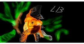 Drawing of Goldfish by Effulgent Emerald