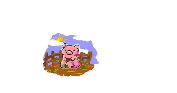 Pig drawing by lola