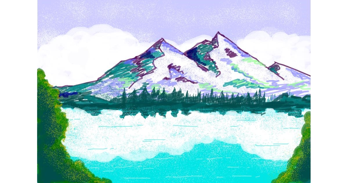 Drawing of Mountain by smackerel