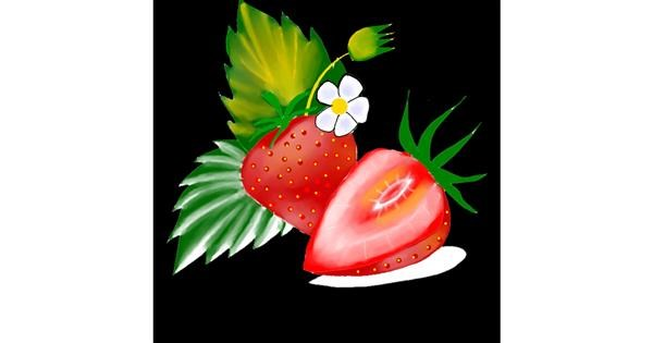 Strawberry drawing by Clinton