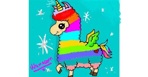 Llama drawing by Mercy