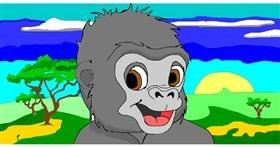 Drawing of Monkey by jule