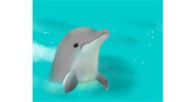 Drawing of Dolphin by Beagle❤️❤️