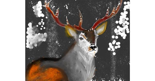Reindeer drawing by Yashi 🐢