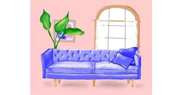 Couch drawing by Cec