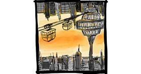 Cable car drawing by Fazila