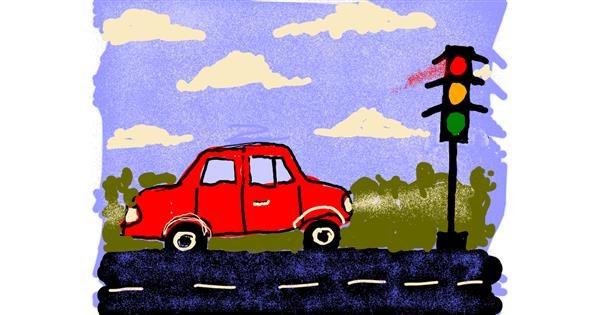 Traffic light drawing by Cherri