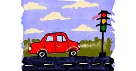 Traffic light drawing by Cherri
