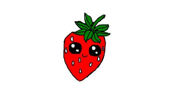 Strawberry drawing by Albanian girl
