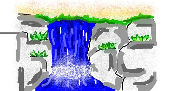 Waterfall drawing by 🍪Cookieplays😜