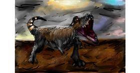 Dinosaur drawing by Soaring Sunshine