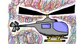 Helicopter drawing by Natalie