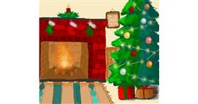 Fireplace drawing by Igris