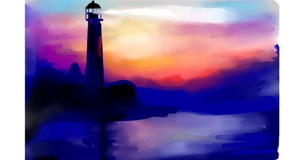 Lighthouse drawing by Rose rocket