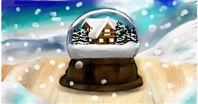 Drawing of Snow globe by Soaring Sunshine