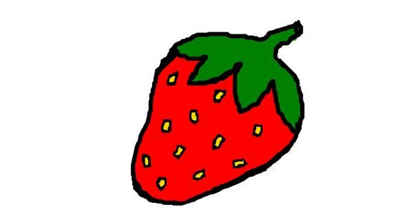 Strawberry drawing by Pollyanna