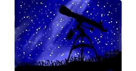 Telescope drawing by 💮LLAMA271💮