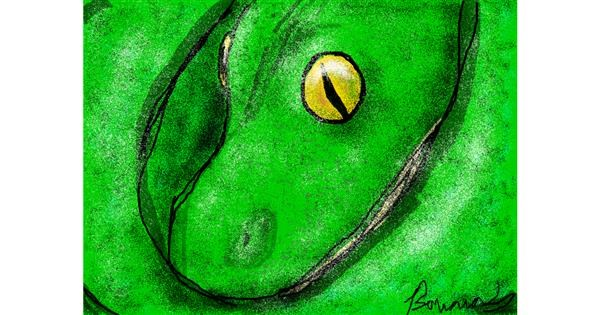 Snake drawing by BANANANANA