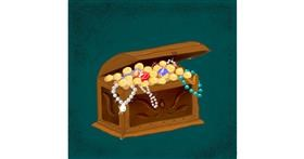 Drawing of Treasure chest by Andromeda