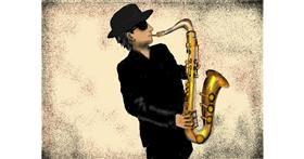 Saxophone drawing by SAM AKA MARGARET 🙄