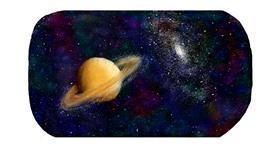 Drawing of Saturn by Sara