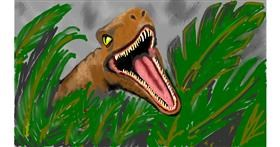 Drawing of Dinosaur by SAM AKA MARGARET 🙄