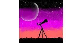 Telescope drawing by MaRi