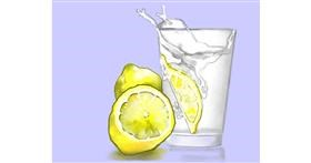 Lemon drawing by Cec
