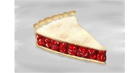 Drawing of Pie by Wizard