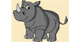 Rhino drawing by Miss universe♥️ Tanzila