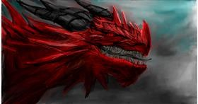 Drawing of Dragon by Soaring Sunshine