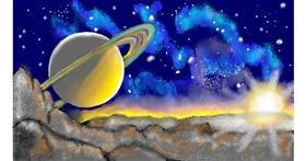 Drawing of Saturn by SAM AKA MARGARET 🙄