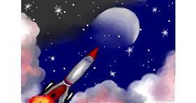 Rocket drawing by Debidolittle