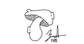 Drawing of Mushroom by Xbruhitz_mehX