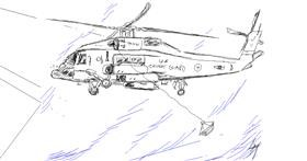 Helicopter drawing by Skelydra