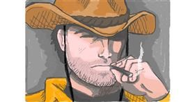 Drawing of Cowboy by bjorn