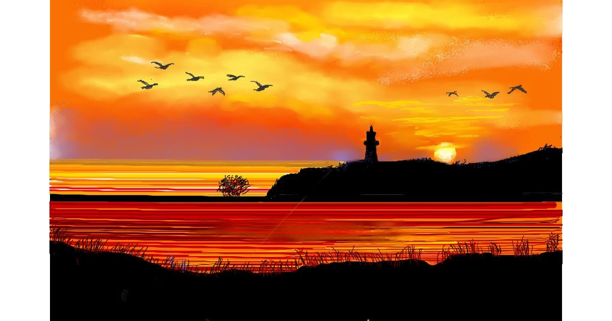 Drawing of Lighthouse by GJP