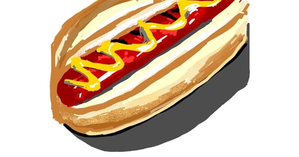 Hotdog drawing by ℤ𝕠𝕖𝕏