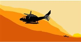 Helicopter drawing by BEBOPZZZ
