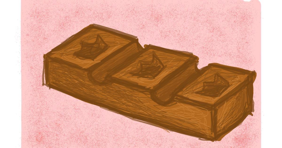 Chocolate drawing by Nina🍎
