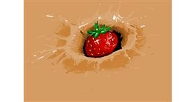 Strawberry drawing by roserocket