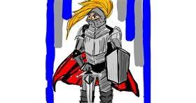 Knight drawing by Fazila