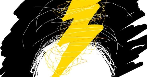 Lightning drawing by SmallWorld
