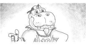 Drawing of Hippo by Obi-wan