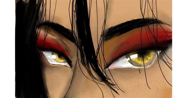 Eyes drawing by [redacted]