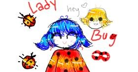 Ladybug drawing by im just rich