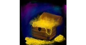Drawing of Treasure chest by Ayisha♎