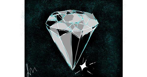 Diamond drawing by Nonuvyrbiznis
